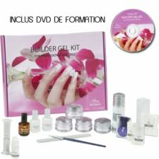Kit faux ongles gel UV 17 pièces