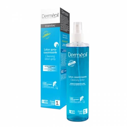 Lotion assainissante pré et post épilation DERMEPIL, spray 250ml