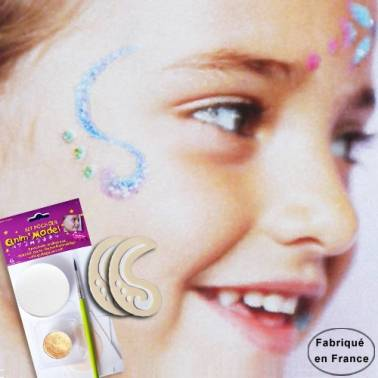 Kit pochoirs maquillage enfant, motif  Arabesque