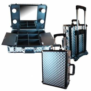 Valise Make up Trolley PARISAX, Grise
