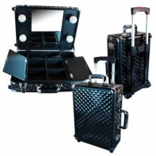 Valise Make up Trolley PARISAX, Noire