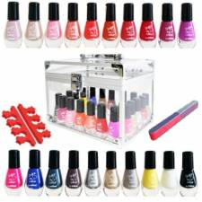 Vanity bar à ongles SHAKE THE COLOUR, 20 vernis à ongles