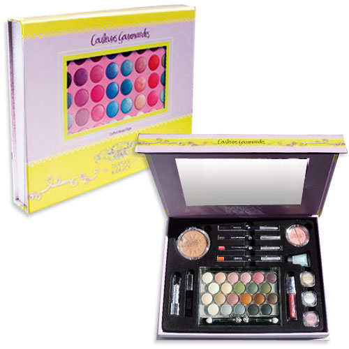 Coffret de maquillage Gourmand Parisax, grand miroir
