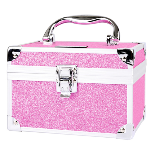 Valise maquillage rose paillet�