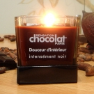 Bougie traditionnelle parfum chocolat Noir