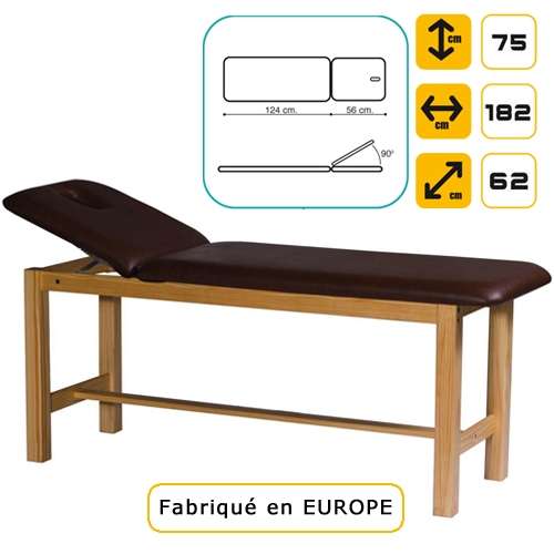 lit de massage en pin soins esth tiques en cabine table d 39 examen m dical divan d 39 examen. Black Bedroom Furniture Sets. Home Design Ideas