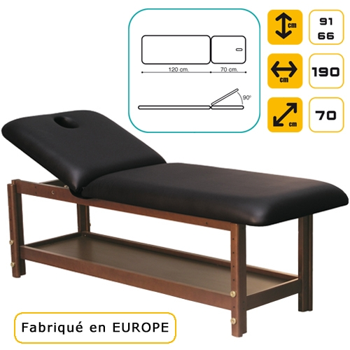 table de massage luxe en bois lit esth tique table de soin en bois table d 39 examen m dical. Black Bedroom Furniture Sets. Home Design Ideas