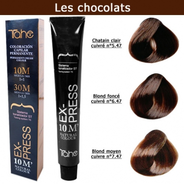 Coloration cheveux Express 10 minutes - Tons Chocolats
