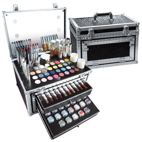kit maquillage valise professionnelle parisax avec clairage led kit maquillage pro. Black Bedroom Furniture Sets. Home Design Ideas