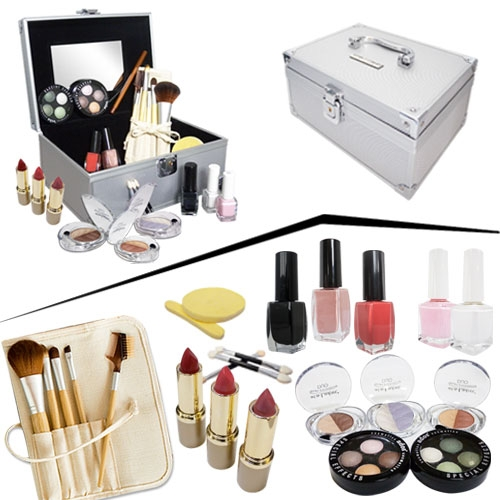 coffret maquillage complet jour avec valise alu kit et rangement de maquillage. Black Bedroom Furniture Sets. Home Design Ideas