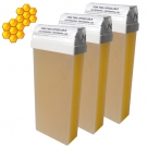 Lot de 3 recharges cire d'abeilles Miel - Roll-on 100 ml