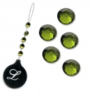 Bijoux pour cheveux strass crystal Olivine Lucyfhair