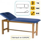 Table de massage en pin massif, Bleu Azur marbré