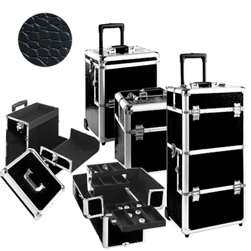 valise trolley tr s grande valise trolley coiffure et esth tique croco noir m tier de la. Black Bedroom Furniture Sets. Home Design Ideas