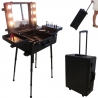 valise maquillage professionnelle parisax noire avec clairage led mat riel maquillage. Black Bedroom Furniture Sets. Home Design Ideas