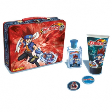 Valisette métallique Beyblade Eau de toilette 50 ml + Gel douche + 2 badges