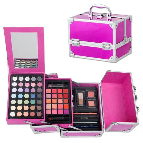 Vanity maquillage sophisticate alu rose - Table de maquillage pas cher ...