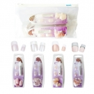 Lot de 4 kits faux ongles