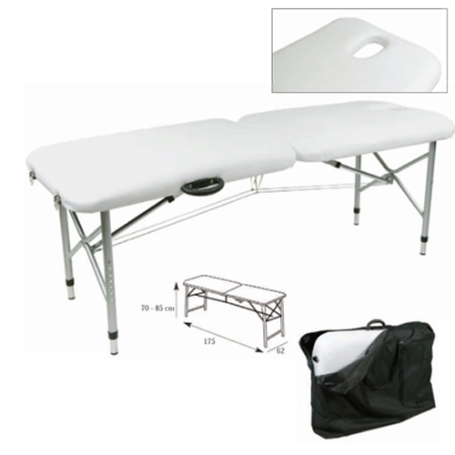 Table de massage portable tr s l g re avec trou facial - Table esthetique pliante legere ...