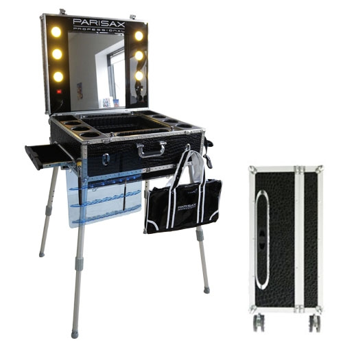 valise maquillage trolley professionnel croco noir parisax. Black Bedroom Furniture Sets. Home Design Ideas