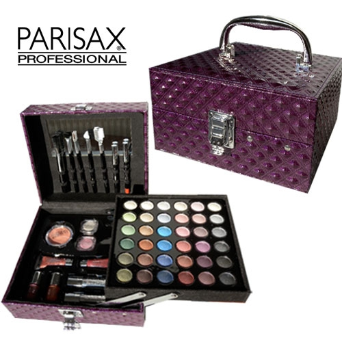 Coffret de maquillage parisax croco prune