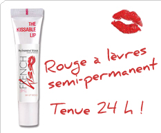 The French Kisse, le rouge à lèvres tenue 24H